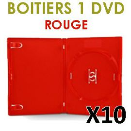 10 Boitiers 1 DVD rouge