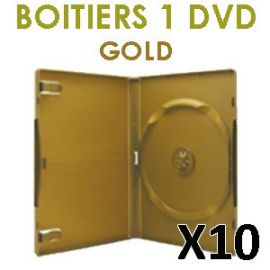 étui dvd or