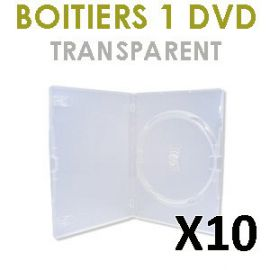 10 Boitiers 1 DVD transparent
