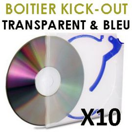 Boitiers KICK-OUT transparent et bleu
