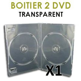 étui 2 dvd transparent