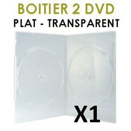 étui 2 dvd plat transparent