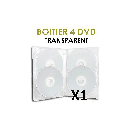 coffret 4 dvd transparent