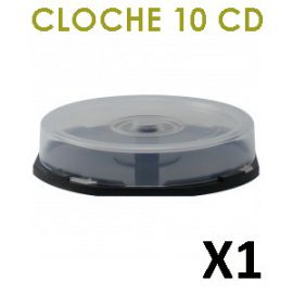 Cloche vide (cakebox) pour 10 CD/DVD