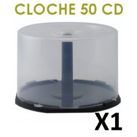 Cloche vide (cakebox) pour 50 CD/DVD
