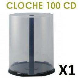 Cloche vide (cakebox) pour 100 CD/DVD
