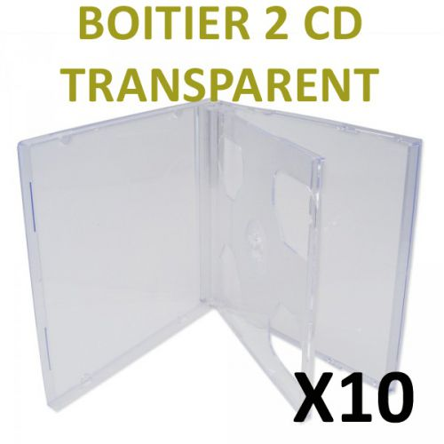 10 Boitiers 2 CD transparents