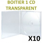 Boitier 1 CD Transparents  Boitier CD de type Cristal Box transparent