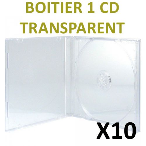 10 Boitiers CD Transparents