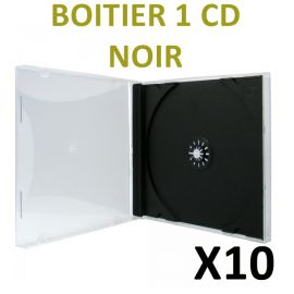 10 Boitiers CD standard de type Cristal Box