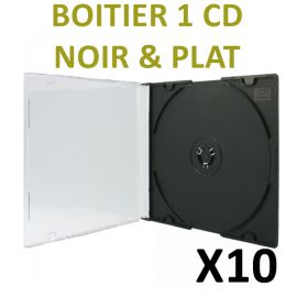 10 Boitiers CD plats type Slim Box