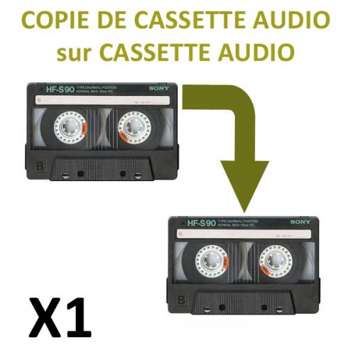 Copie de cassette audio sur cassette audio