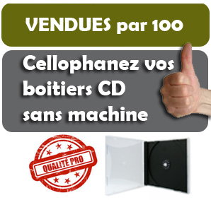 Cellophane pour boitiers CD standard (Jewel box)