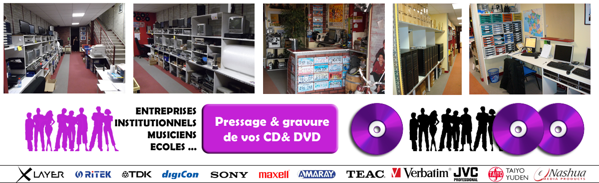 CD Center - DVD Center - Duplication de cd et dvd. transfert de video sur dvd